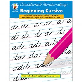 Traditional Handwriting: Beginning Cursive Resource Book, Grade 4-8