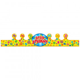 "Star Student Crowns, 23.5"" x 4"", Pack of 30"
