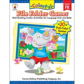 Colorful File Folder Games Resource Book, Grade PK