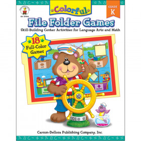 Colorful File Folder Games Resource Book, Grade K