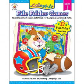 Colorful File Folder Games Resource Book, Grade 1