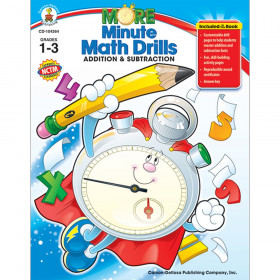 More Minute Math Drills: Addition and Subtraction Resource Book, Grade 1-3