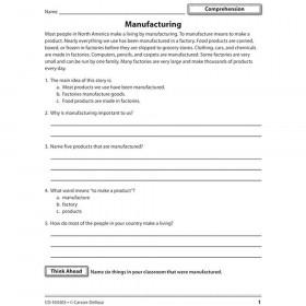 Reading Comprehension And Skills Gr 1