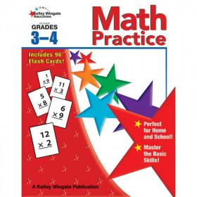 Math Practice Gr 3-4 W/Flash Cards