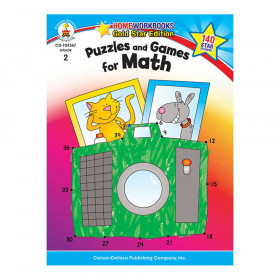 Puzzles and Games for Math, Grade 2