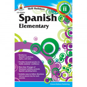 Skill Builders Spanish II Workbook, Grade K-5