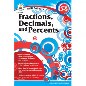 Fractions, Decimals, and Percents, Grades 3 - 5