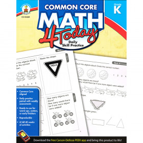 Common Core Math 4 Today, Grade K
