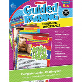 Guided Reading: Determine Importance Resource Book, Grade 5-6