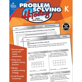 Problem Solving 4 Today Workbook, Grade K