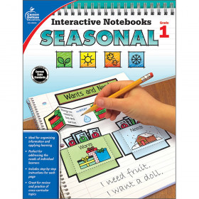 Interactive Notebooks: Seasonal Resource Book, Grade 1