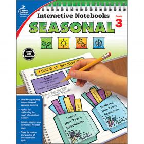 Interactive Notebooks: Seasonal Resource Book, Grade 3