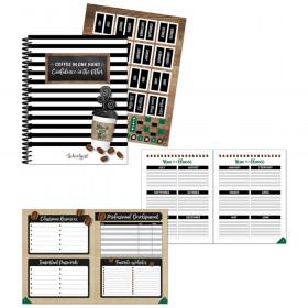Industrial Cafe Teacher Planner Paperback