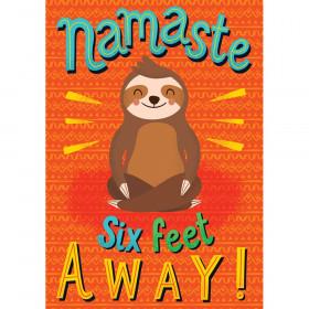 One World Namaste Six Feet Away! Poster