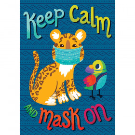 One World Keep Calm and Mask On Poster