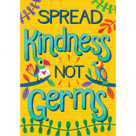 One World Spread Kindness, Not Germs Poster