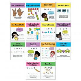 Math Strategies Mini Posters, Set of 14