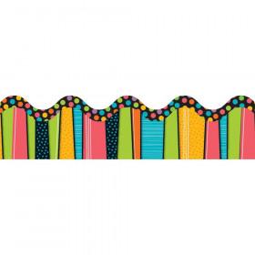 Stylin Stripes Scalloped Borders