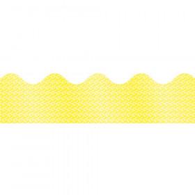 Yellow Sparkle Scalloped Borders