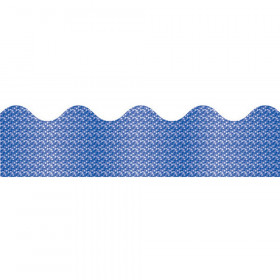 Blue Sparkle Scalloped Borders