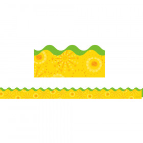 Lemon Lime Scalloped Borders