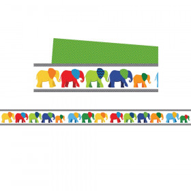 Parade of Elephants Straight Borders