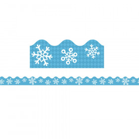 Snowflakes and Argyle Scalloped Border, 39 Feet