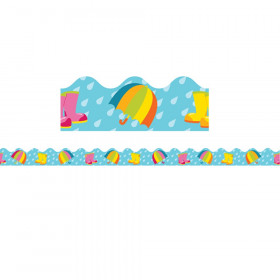 Spring Showers Scalloped Border, 39 Feet