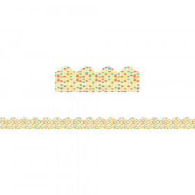 Yellow Brick Scalloped Borders