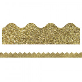 Gold Glitter Scalloped Borders Sparkle And Shine