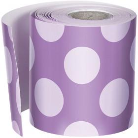 Purple W Polka Dots Str Borders School Girl Style