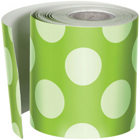 Lime W Polka Dots Straight Borders School Girl Style