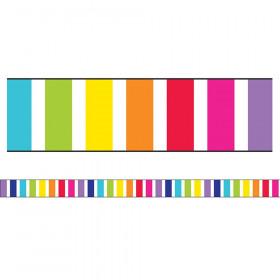 Stars Vertical Rainbow Stripes Straight Border, 36'