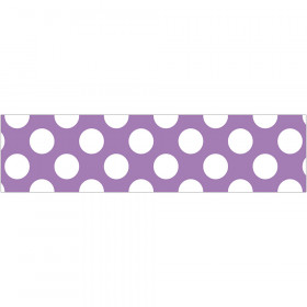 Purple Polka Dot Straight Borders School Girl Style