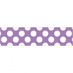 Purple Polka Dot Straight Borders School Girl Style