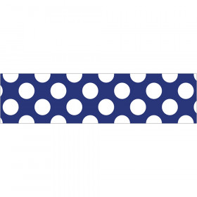 Navy with Polka Dots Straight Border, 36'