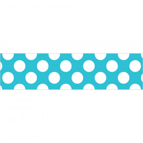 Teal with Polka Dots Straight Border, 36'