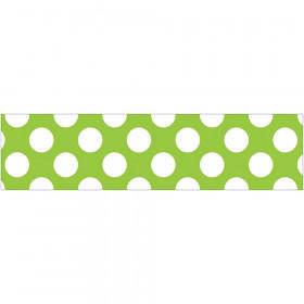 Lime W Polka Dots Straight Borders School Girl Style