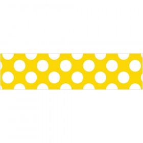 Yellow W Polka Dot Straight Borders School Girl Style