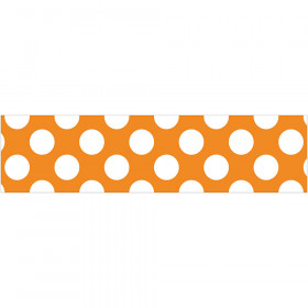 Orange W Polka Dot Straight Borders School Girl Style