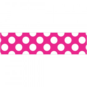 Hot Pink W Polka Dot Str Borders School Girl Style