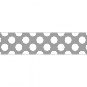 Gray with Polka Dots Straight Borders