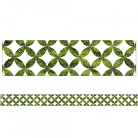 Woodland Whimsy Moss Lattice Straight Border, 36'
