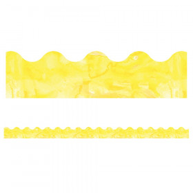 Celebrate Learning Watercolor Yellow Scalloped Border, 39'