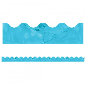 Celebrate Learning Watercolor Blue Scalloped Border, 39'