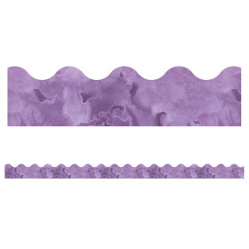 Watercolor Purple Scalloped Borders Celebrate Learning