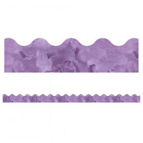 Celebrate Learning Watercolor Purple Scalloped Border, 39'