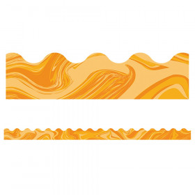 Orange Marble Scalloped Borders