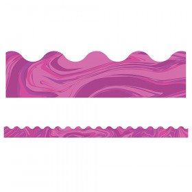 Pink Marble Scalloped Borders