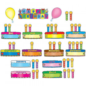 Birthday Cakes Mini Bulletin Board Set